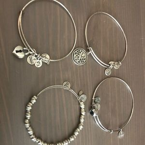 4 Alex and Ani Bracelets